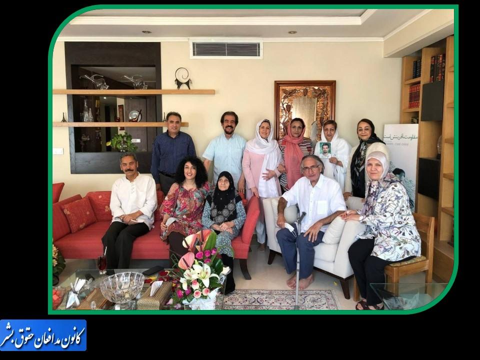 دیدار اعضای کانون مدافعان حقوقبشر با محمد نوریزاد