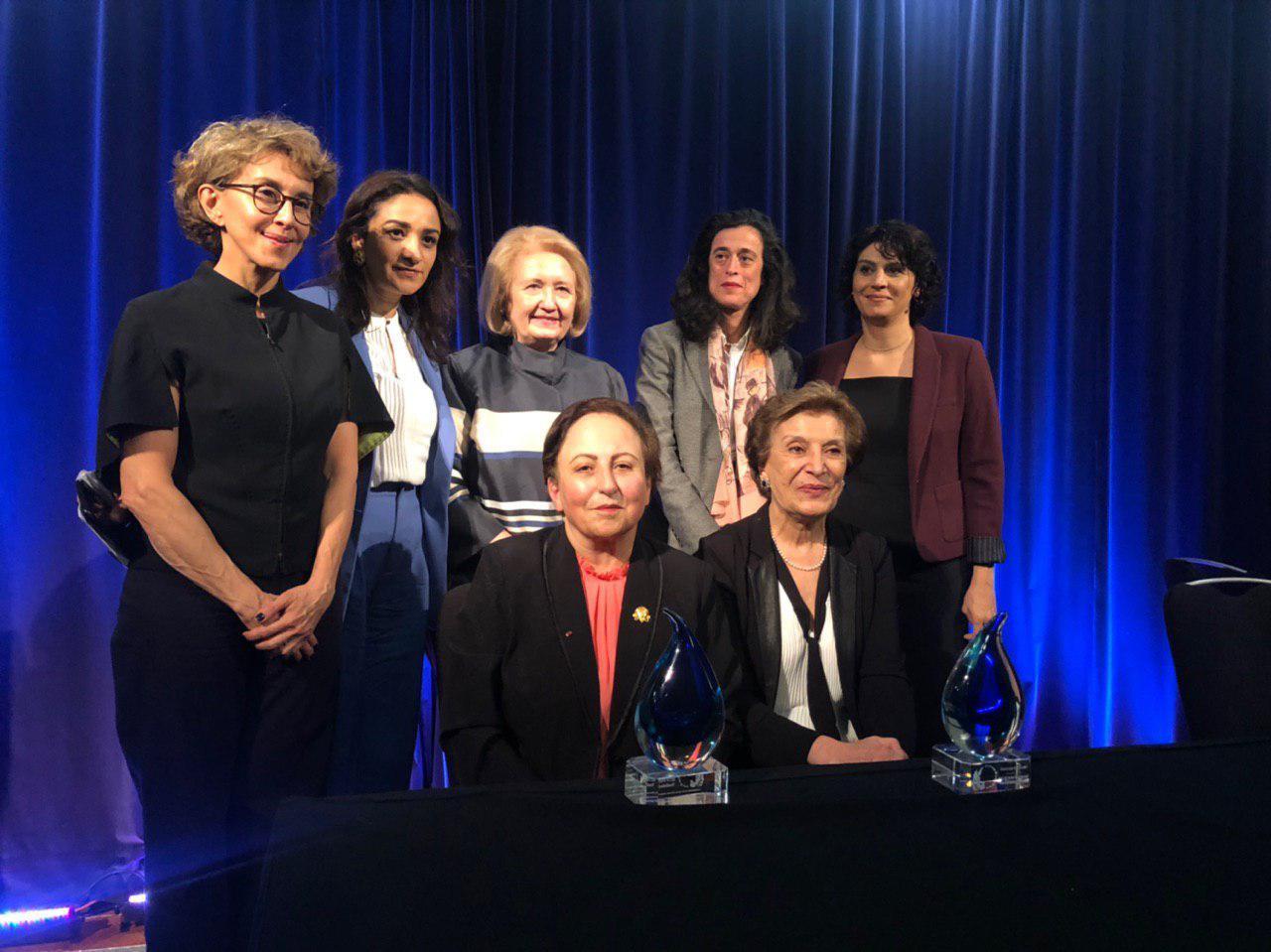 تقدیر موسسه زنان، صلح و امنیت دانشگاه جورج تاون ازشیرین عبادی