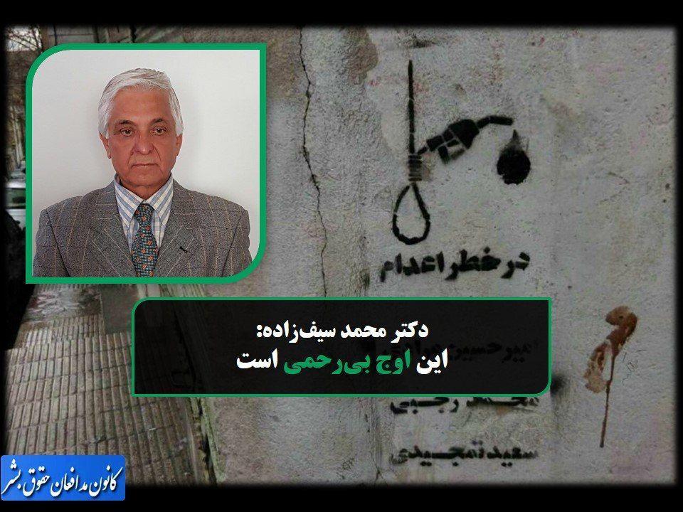 دکتر محمد سیفزاده: دیوان عالی کشور باید فوراً ۳ معترض آبان را آزاد کند/ مجازات فرزندان نرگس محمدی اوج بیرحمی است