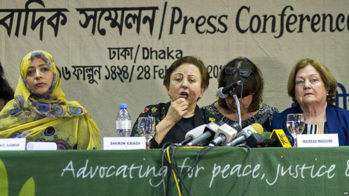 برندگان جایزه نوبل خطاب به آنگ سان سوچی: یا اقدام کن یا محاکمه شو